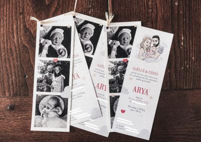 Faire-part de naissance – Arya
